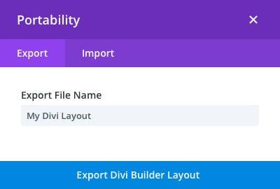 Exportation Divi