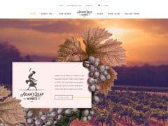 Vignette du site Web d'Adam's Leap Wines