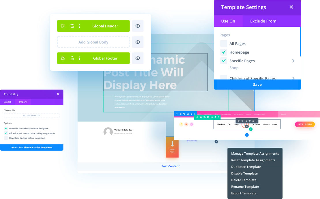 Divi Theme Builder