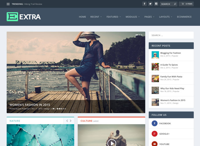 Extra Drag & Drop Magazine WordPress Theme | Elegant Themes