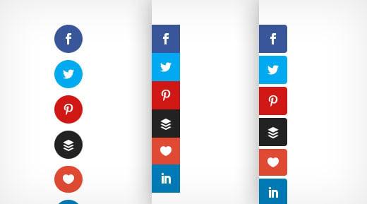 Floating Sidebar Share Icons