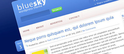 BlueSky Premium WordPress Theme From ElegantThemes