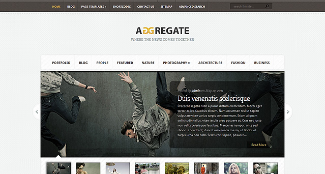 [ThemeForest]  Aggregate Free .PSD Files Download