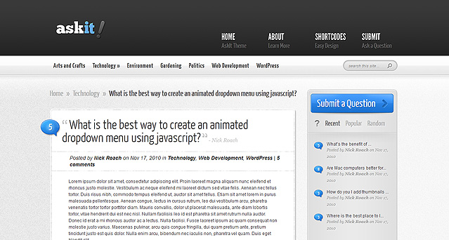 AskIt WordPress Theme