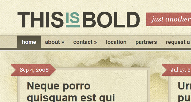 Bold WordPress Blog Theme