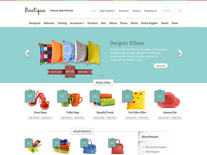 Boutique WordPress Theme