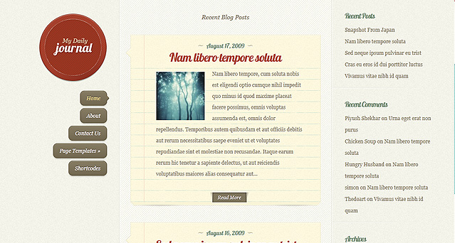 dailyjournal responsive wordpress theme