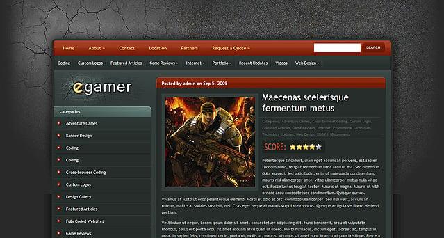 eGamer WordPress Theme