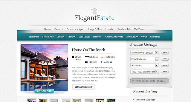 Elegantestate real estate wordpress theme pronofoot35fo Gallery