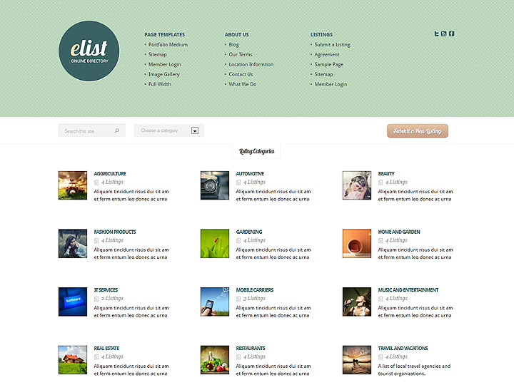 Elist directory wordpress theme cheaphphosting Choice Image