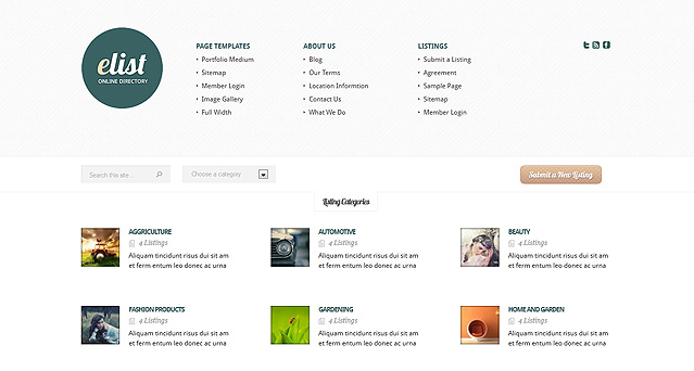 Elist directory wordpress theme flashek Images