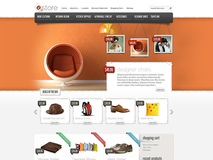 eStore eCommerce WordPress Theme