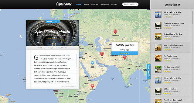 [ThemeForest]  Explorable Free .PSD Files Download