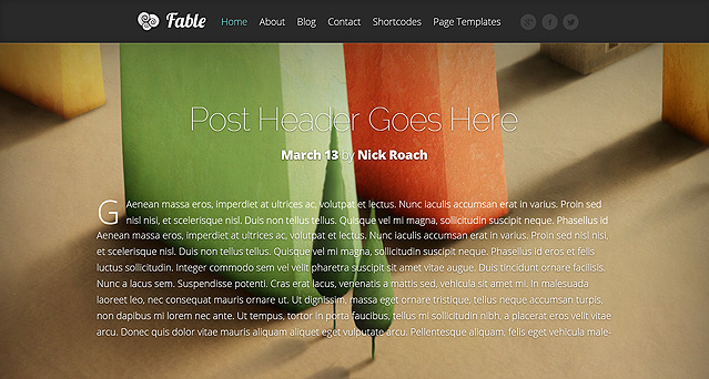 Wordpress Theme Fable