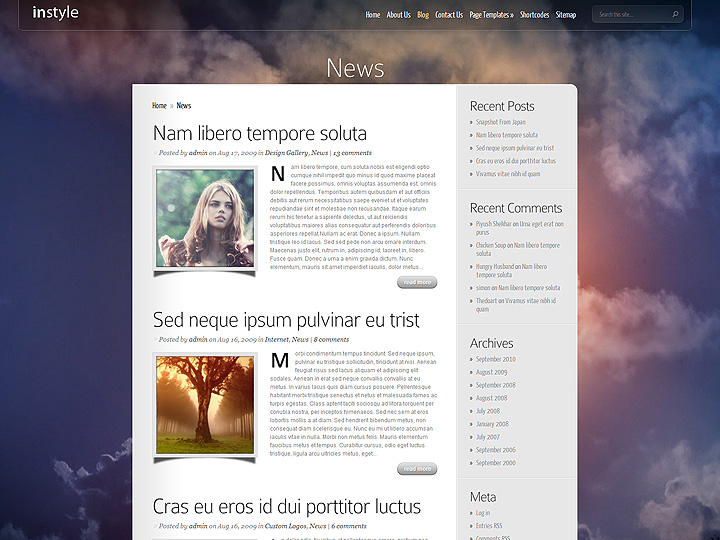 Download Instyle Wordpress Theme Free Nulled
