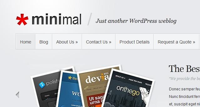 Minimalist WordPress Themes Minimal WordPress Theme
