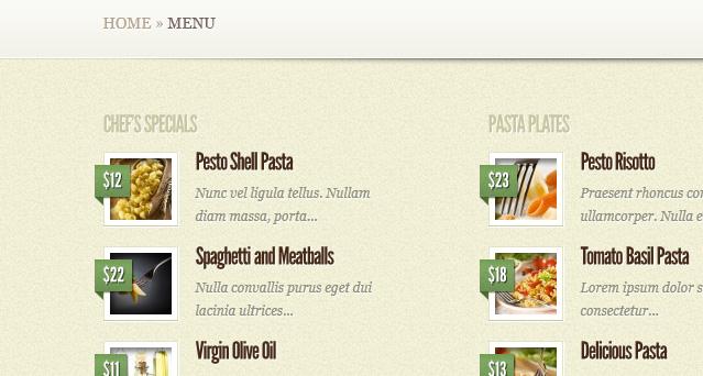 mycuisine restaurant wordpress theme