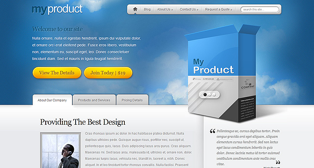 Myproduct Wordpress Theme