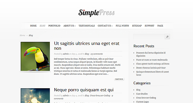 simplepress simple wordpress theme. Black Bedroom Furniture Sets. Home Design Ideas