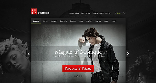Wordpress Theme Style Shop
