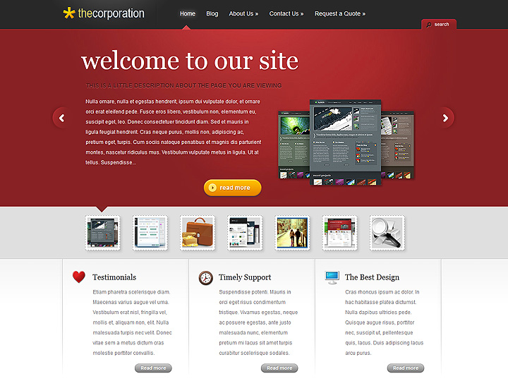 The Corporation WordPress Theme