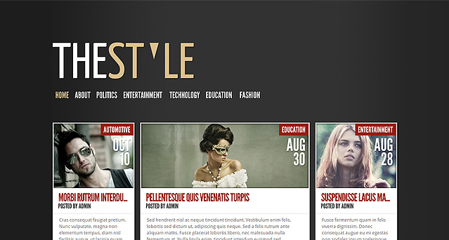 [ThemeForest]  TheStyle Free .PSD Files Download