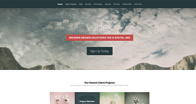 Wordpress Theme Vertex