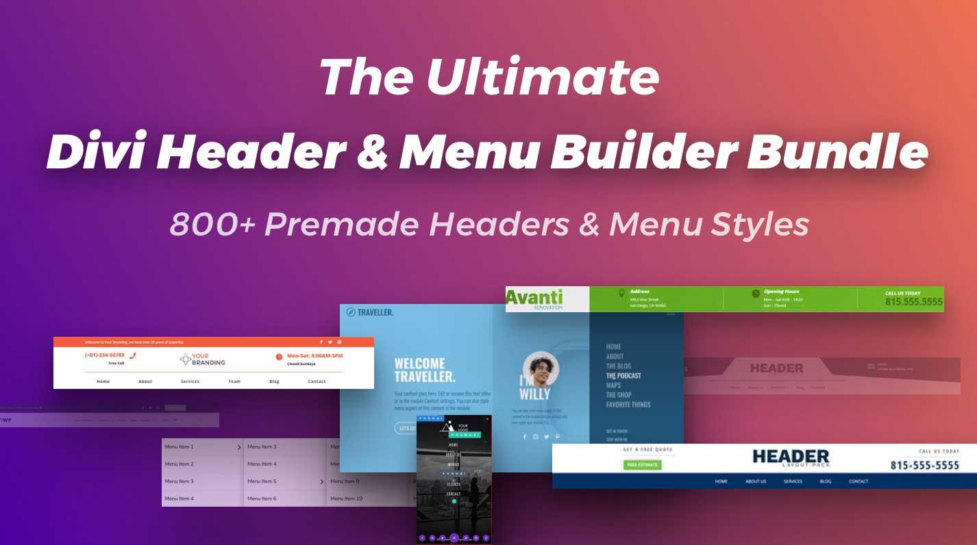 The Ultimate Divi Header & Menu Builder Bundle